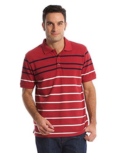 Balsamik - Polo a righe, maniche corte - uomo - Size : XL - Colour : Arancione righe blu marino/bianco
