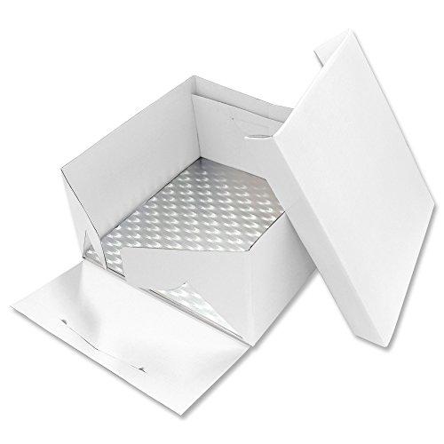 PME BCS874 Scatola per Dolci con Sottotorta Quadrato Bianco 255