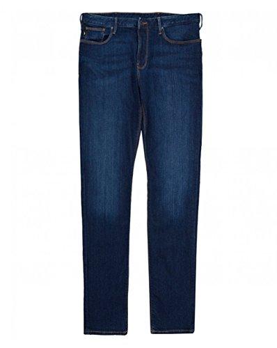 Armani uomo j06 slim fit jeans blu denim 50 regolari