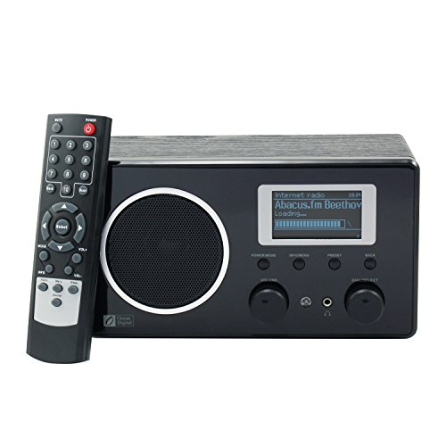 Ocean Digital Internet Radio WR282 WiFi WLAN Wireless Anschluss FM Wooden Desktop Media Player LCD-Display-Schwarz