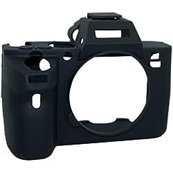 Protecteur en silicone gel caoutchouc souple Housse Housse Housse Compatible pour Sony Alpha A7ii / A7Rii / A7sii Appareil photo Noir