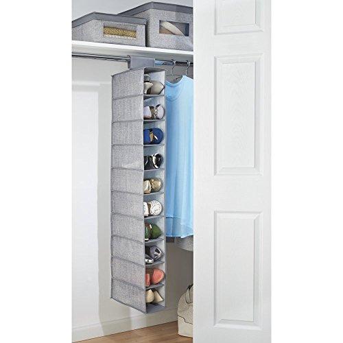 Mdesign zapatero de tela para colgar en el armario for Armario zapatero de tela