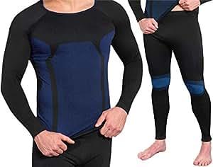 Nahtlose Herren Seamless Funktionsunterwäsche von normani® Farbe Garnitur Blau Größe S/M