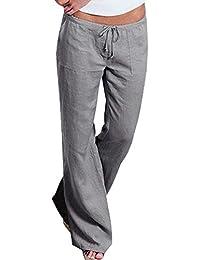 QK-Lannister Donna Pantalone Larghi Primaverile Pantaloni Elastico in  Autunno con Vita Abbigliamento Festivo Sciolto 4fd2104fecb2
