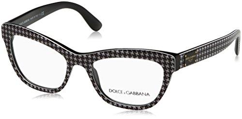 Dolce & Gabbana Gestell 3253_3079 (51 mm) schwarz/weiß