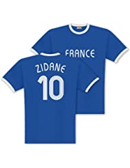 World of Football Player Shirt Zidane-Frankreich