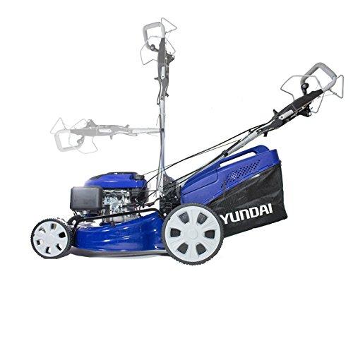 Hyundai 196cc Electric Start Self Propelled 4-in-1 Rotary Petrol Lawn Mower HYM51SPE