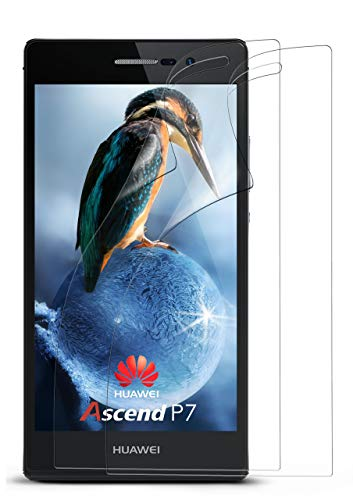 moex 2X Huawei P7 | Schutzfolie Klar Bildschirm Schutz [Crystal-Clear] Screen Protector Display Handy-Folie Dünn Bildschirmschutz-Folie für Huawei Ascend P7 Bildschirmfolie