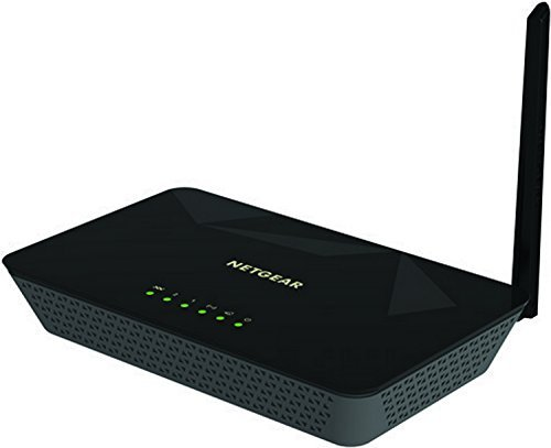 Netgear D500 N150 WiFi DSL Built-in ADSL2+ Modem Router (Black)