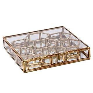 Alza Brass Polish Antique Jewellery Honey Comb Boxes (Small)