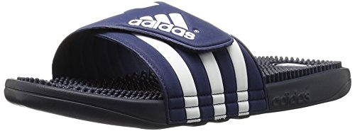 Adidas Originals Adissage Diapositive, Nero / Nero / Bianco, 5 M Us Nouveau Marine / New Navy / Running White