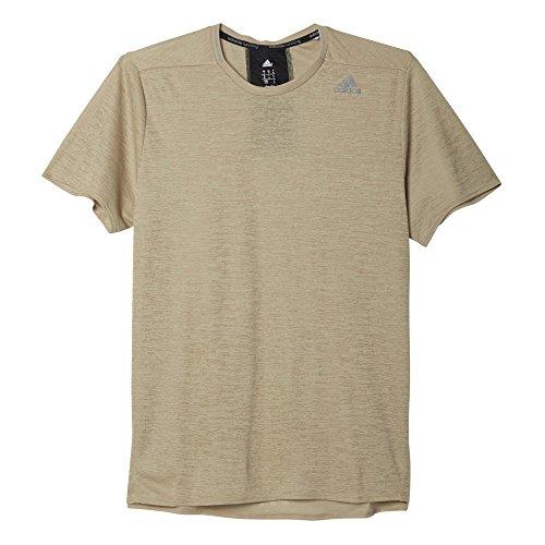 adidas Herren T-Shirt SN Short Sleeve M beige (Beige/Silber)