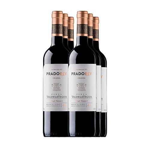Pradorey Finca Valdelayegua - Vino Tinto - Crianza - Ribera Del Duero - 95%tempranillo, 3% Cabernet Sauvignon, 2% Merlot - Crianza Tradicional Con 12 Meses De Barrica Y 3 Meses En Conos De Nevers - 6 Botellas De 0,75 L