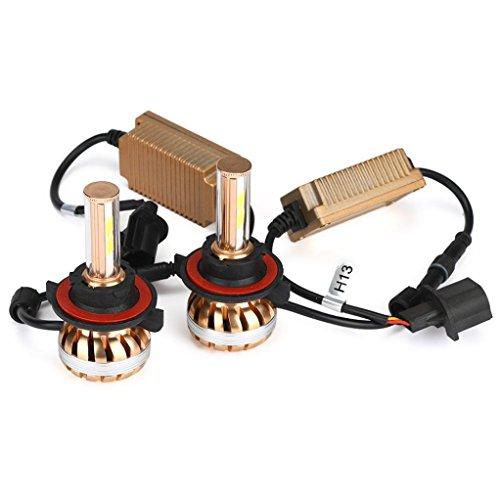 Ansenesna 2X S5 9004/9007/H13/880/881 Auto Lampen Set Kit 80W 7200LM 6000K Weiß Auto Birne Kopflicht Lampe (H13)