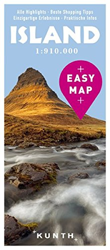 EASY MAP Island: 1:910.000 (KUNTH EASY MAP): Alle Infos bei Amazon