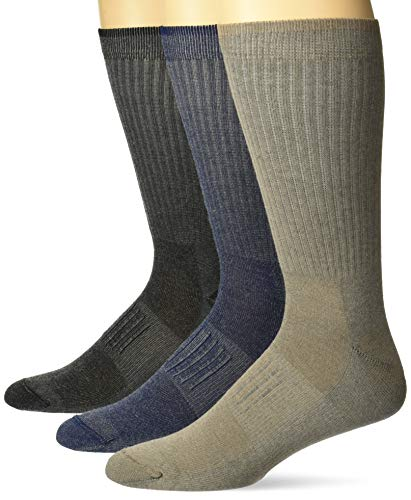 Carolina Ultimate Herren Ultra-Dri Lightweight Cushion Boot Crew 3 Pair Pack Legere Socken, Sortiert, Large (Sock Herren Boot Pack)