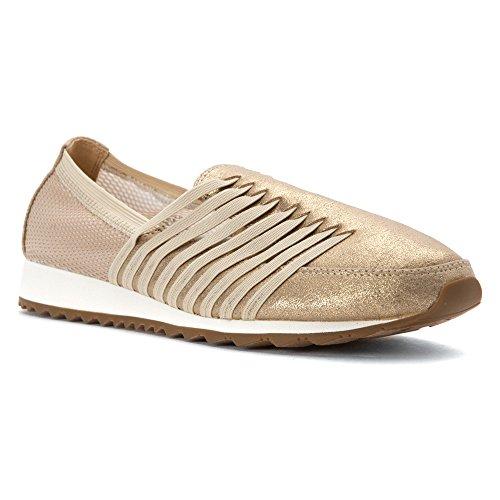 Easy Spirit Lehni Femmes Large Synthétique Chaussure de Marche Gold Multi