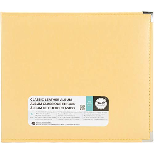 We R Memory Keepers Classic Leder 3 Ring Album 12 Zoll x 12 Zoll Buttercup -