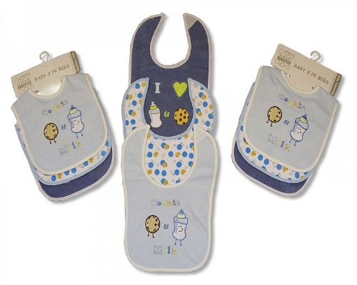 nursery-time-bavoir-cookie-lait-bleu-lot-de-3