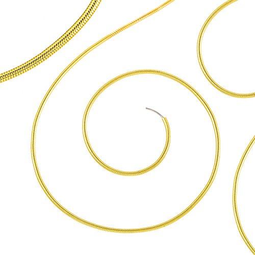Beadsmith Lot de 0,7 mm French Fils/Gimp Fine Couleur Or 35,6 cm