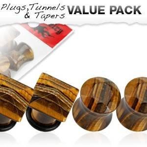 Lot de 4 Piercing plug Taille 10 mm