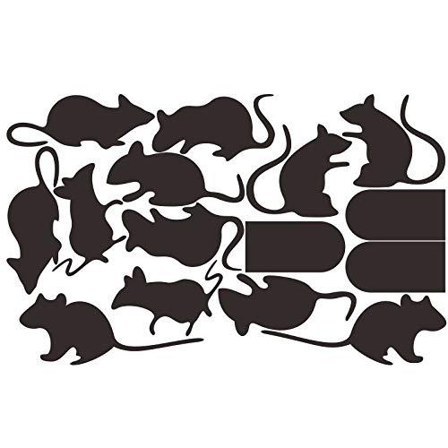 BooDecal Diy Schöne Ratten Mäuse Türen Sets von 15 Vinyl Wandtattoos Wohnkultur Wandbilder Aufkleber für Wohnzimmer Treppe Halloween Dekoration (Machen Halloween Fenster Silhouetten)