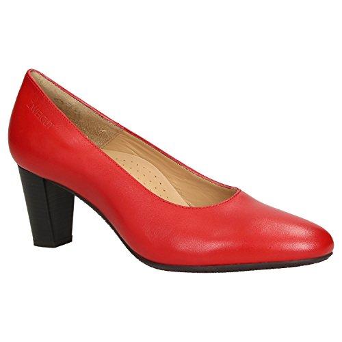 Zweigut® smuck #214 Achtung GRÖßENWANDEL Damen Leder Pumps Nappaleder Sommer Business Schuhe Komfort Laufsohle, Schuhgröße:36, Farbe:rot (Frauen Kleid Schuhe Größe 11)