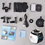 360-Grad-Panoramakamera Mini-WiFi-Kamera Ultra HD-Panorama-Kamera Weitwinkelobjektiv Wasserdichte Sporttauchkamera
