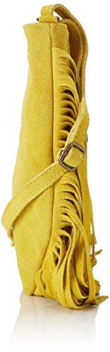 Chicca Borse Damen 1518 Schultertasche, 21x24x2 cm Giallo (Yellow)