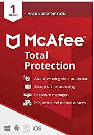 McAfee Total Protection 2021 | 1 Device | 1 Year | Antivirus Software, Internet Security, Password Manager, Mo
