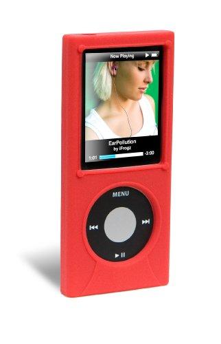 Ifrogz Nano (ifrogz 4th Gen Nano Silicone Wrapz Rot Silikon - MP3-/ MP4-Player-Taschen (Rot, 4th Gen Nano, Silikon))