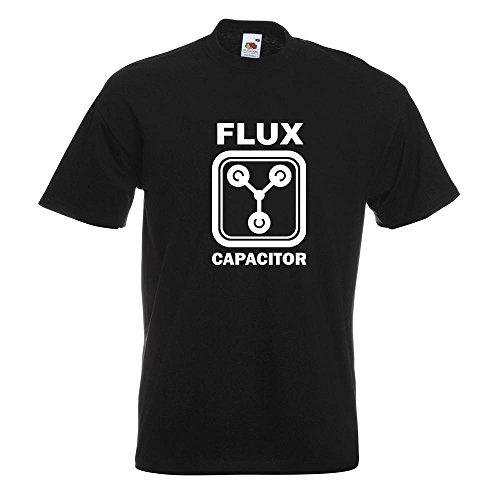 KIWISTAR - Flux Capacitor T-Shirt in 15 verschiedenen Farben - Herren Funshirt bedruckt Design Sprüche Spruch Motive Oberteil Baumwolle Print Größe S M L XL XXL Schwarz