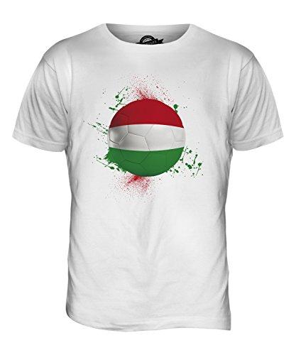 CandyMix Ungarn Fußball Herren T Shirt Weiß