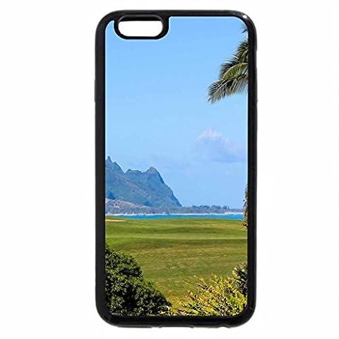 iPhone 6S / iPhone 6 Case (Black) Princeville Ocean View Golf Course overlooking beach and cliffs Kauai Hawaii