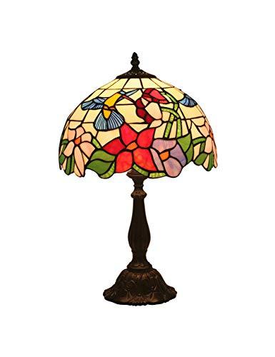 Floral Vintage Stehlampe (KCoob Schreibtischlampe groß Floral und Hummingbird Muster Stehlampe Vintage für Wohnzimmer)