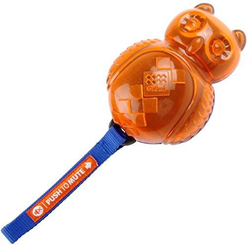GiGwi 6174 Hundespielzeug Push-To-Mute Eule aus Gummi,…   04006015061742
