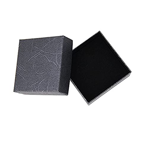 Jewellery Presentation Gift Box Storage Case with Soft Cushion for Earring Ring Bracelet Pendant Necklace Black
