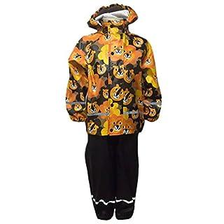 JNY Colourful Kids Boys' Raincoat Orange Orange-Schwarz 104 (EU)