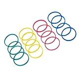 Baosity 100pcs Durevole Nastri Bande Elastici in Gomma Multicolori O Anelli per il Tatuaggio Macchina Pistola Strumento Kit Accessori