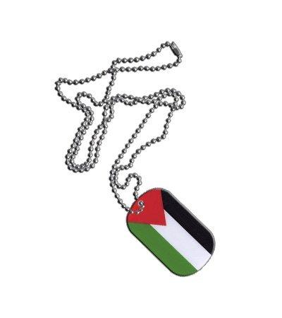 Dog Tag / Erkennungsmarke / Kette Palästina - 3 x 5 cm