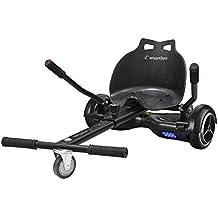 SmartGyro Go Kart Pro Black - Asiento Kart para patín eléctrico, Convierte tu Hoverboard en