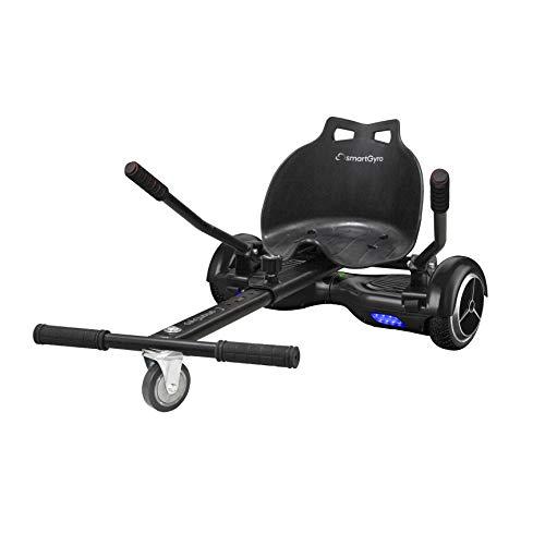 SmartGyro Go Kart Pro Black - Asiento Kart para patín eléctrico, Convierte tu Hoverboard en un Kart, Universal, Color Negro