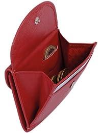 Petit portefeuille LEAS, cuir véritable, rouge - ''LEAS Mini-Edition''