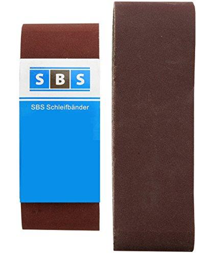 Pack 10de papel lija lijadoras banda 75x 533