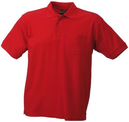 James & Nicholson Herren Poloshirt Rot (Red)