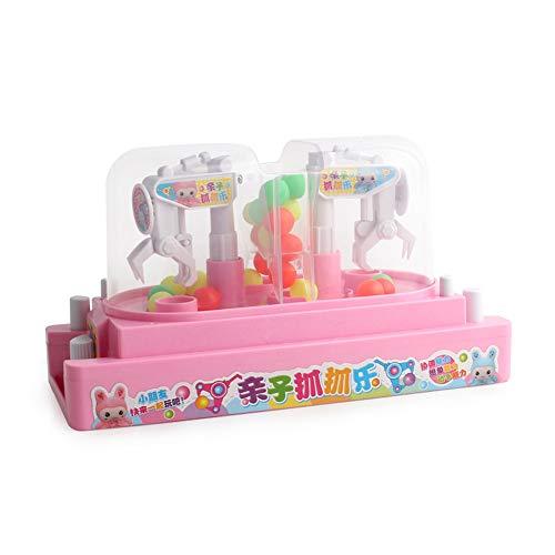 XUMING Traditionelle Arcade Doppelkampf Candy Collector Puppe Grab Maschine Desktop Neuheit Spielzeug Familie Interaktive Kinder Action Und Reaktionsspiel,Pink - Tabletop-automaten