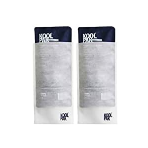 Koolpak Luxury Reusable Hot & Cold Gel Pack Large (12 x 29cm) with Non-Woven Sleeve - Twin Set