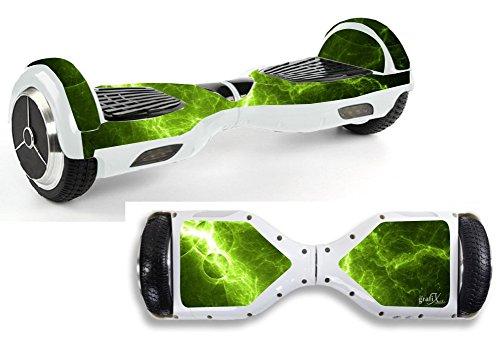Pegatinas con diseño verde eléctrico para Hoverboard Hov25