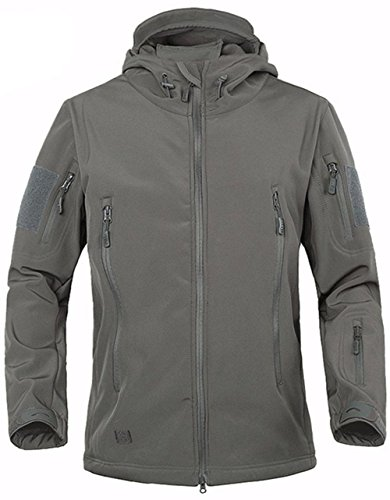 TACVASEN Hombres Impermeable Chaqueta Softshell...