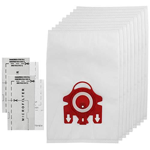 Spares2go 3d type fjm hyclean - sacchetti per aspirapolvere miele dei modelli s6210, s6220, s6240, s6290 e s6730, confezione da 10 sacchetti con microfiltri per l'aria